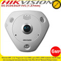 Hikvision DS-2CD6362F-IVS 6MP 1.27mm lens 15m IR range IP66 IK10 PoE Fisheye IP Network Camera