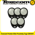 Texecom Premier Elite Prox Tags - Pack of 5 (CDB-0001)