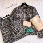 CHANEL 16A Paris in Rome Runway Lesage Tweed Jacket + Skirt Suit 38 FR