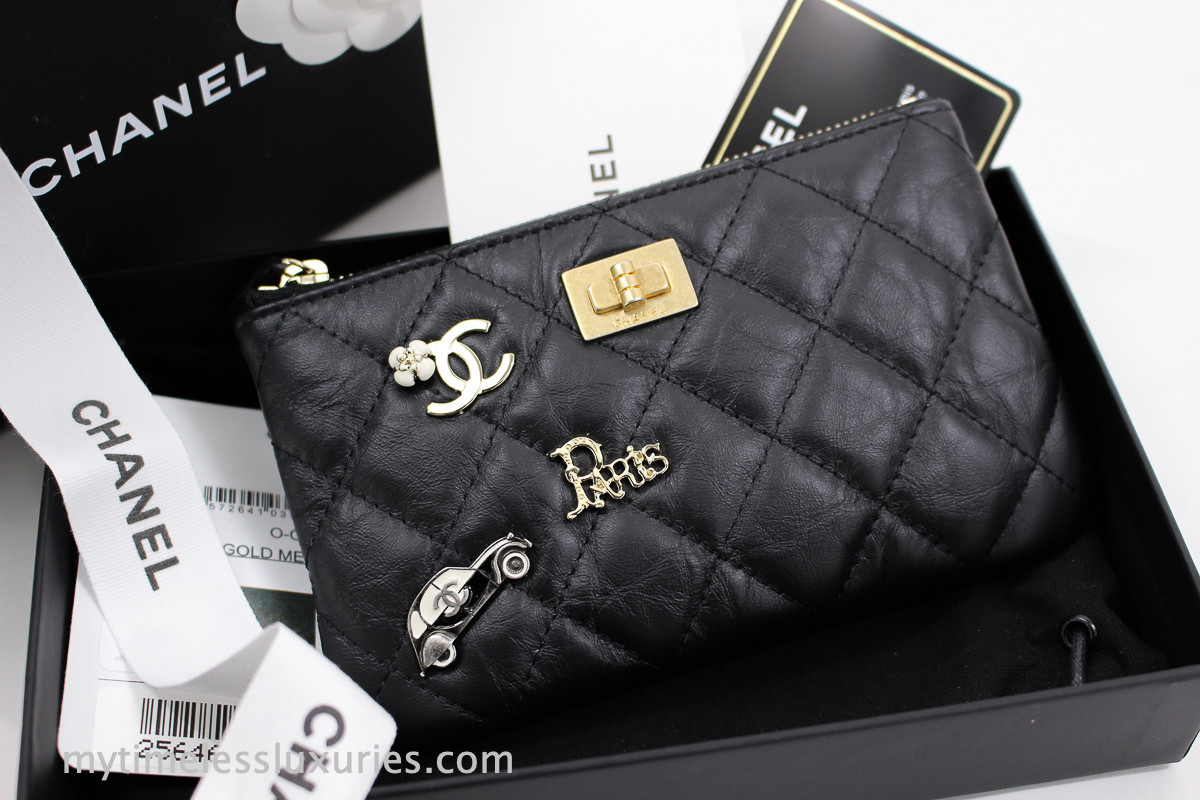 5b275742e365 CHANEL 18P Paris Charms Aged Calf 2.55 Mini O-Case #25646112 *New - Timeless  Luxuries