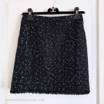 CHANEL 13C Versailles Lesage Ribbon Tweed Mini Skirt 36 FR Black/ White