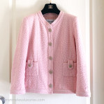 CHANEL 16C Paris-Seoul Classic Tweed Jacket w Pearl Buttons 36 FR Pink