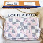 LOUIS VUITTON Damier Azur Tahitienne Mini Pochette #SF1117 *New