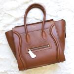 CELINE Micro Luggage Bag Caramel Baby Calf Leather *New