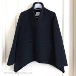 HERMES Paletot Evase Double Cashmere Flared Jacket/ Coat 34 FR *New