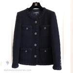 CHANEL 16A Paris in Rome Fantasy Tweed Little Black Jacket 38 FR