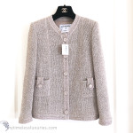 CHANEL 2016 16C Paris Seoul Beige Pearly Tweed Classic Jacket 36 FR *New