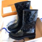 LOUIS VUITTON 'Drops' Half Boot Rainboots Black 36 EU *New