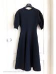 DIOR Tailored Knit Dress Knee Length Bleu Marine (Navy) 36 FR