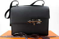 HERMES Verrou 21 Shoulder Bag Black Noir Epsom Palladium Hw