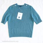 CHANEL 17B CC Pearl Embellished Cashmere Sweater Aqua 36 FR *New