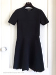 LOUIS VUITTON A-Line Little Black Dress w/ Scalloped Hem XS