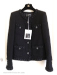 CHANEL 16A Paris in Rome Fantasy Tweed Little Black Jacket 38 FR *New