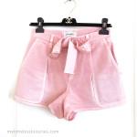 CHANEL 2018 18P High Waisted Denim Shorts Pink 36FR