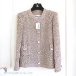 CHANEL 2016 16C Paris Seoul Beige Pearly Tweed Classic Jacket 38 FR *New