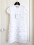 CHANEL 19P 2019 Spring-Summer Knit Mini Dress 34 FR White *New