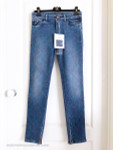 CHANEL 17A Metiers d'Art Cosmopolite Jeans Lion Button 36 FR Blue *New