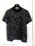 CHANEL 2018 18B Black/ Gold Camellia Cotton T-Shirt 36 FR