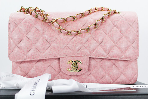 899bfdcbbd66 ... CHANEL Pink Caviar Classic Double Flap Bag Gold Hw  9145344. Image 1