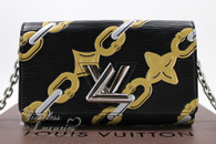 LOUIS VUITTON Chain Flower Epi Leather Twist Chain Wallet #SP4195 *New