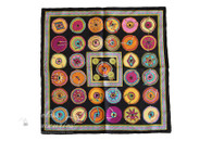 HERMES 'Belles du Mexique' Silk Twill 40cm Pocket Square Scarf