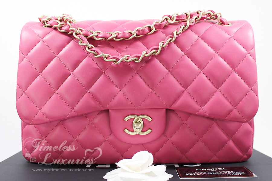 81c8a67af CHANEL Pink Jumbo Classic Double Flap Bag Matte Gold Hw #17914449 *New -  Timeless Luxuries