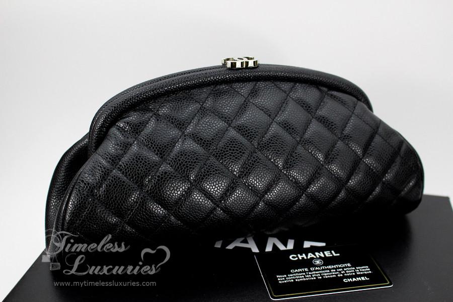f11b1f5fd153 Chanel black caviar timeless clutch bag silver jpg 900x600 Timeless clutch