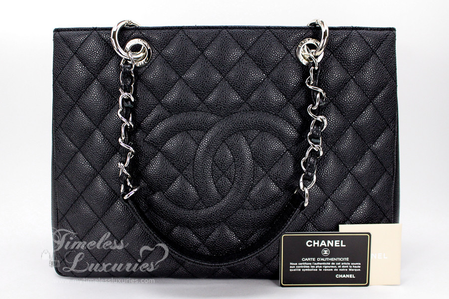 8a1b60929d1f CHANEL Black Caviar Grand Shopping Tote GST Silver Hw #17262716 *New -  Timeless Luxuries