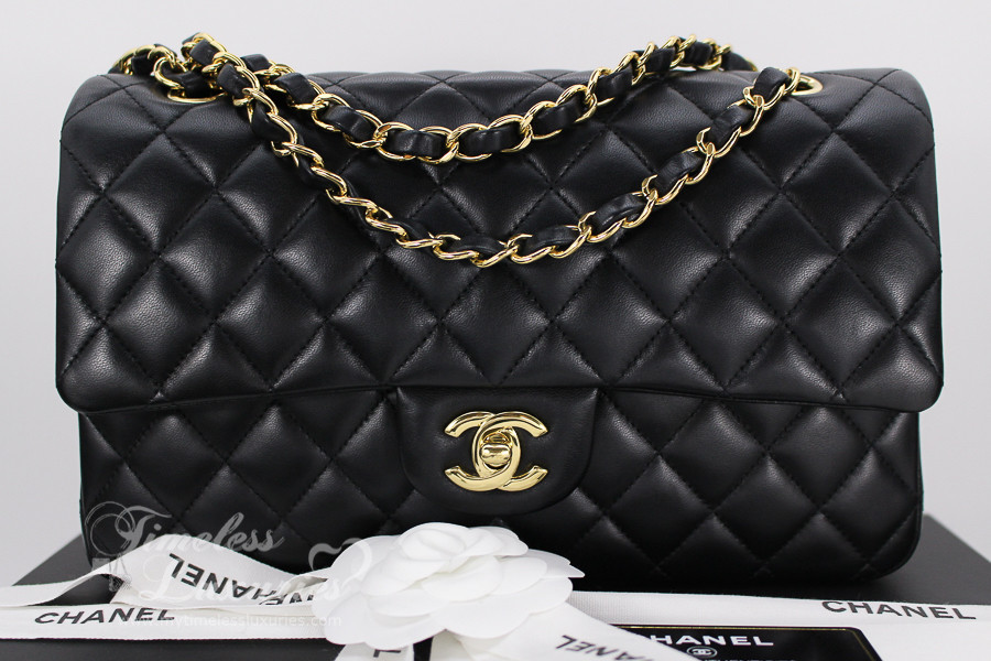 CHANEL 2017 Black Lambskin Classic Double Flap Bag Gold Hw  23931561 -  Timeless Luxuries f98f976272