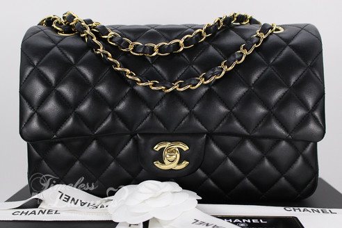 055363431bf8 ... CHANEL 2017 Black Lambskin Classic Double Flap Bag Gold Hw  23931561.  Image 1
