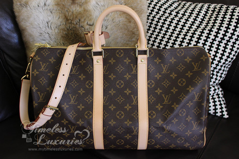 d071cb28002e LOUIS VUITTON Monogram Keepall 45 Bandouliere Travel Bag  DU2114 ...