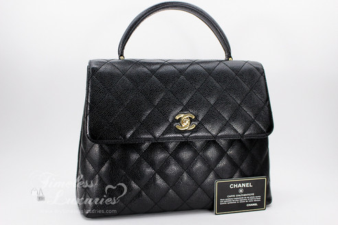708e17ab7de0 ... CHANEL Black Caviar Quilted Jumbo Kelly Flap Bag Gold Hardware  #8084794. Image 1