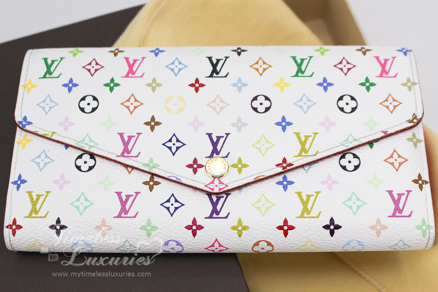 ada9bf819683 LOUIS VUITTON Monogram Multicolore Sarah Wallet White  Blanc  CT4104 - Timeless  Luxuries