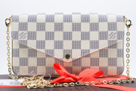 LOUIS VUITTON Pochette Felicie Damier Azur Canvas #MI2176 *New