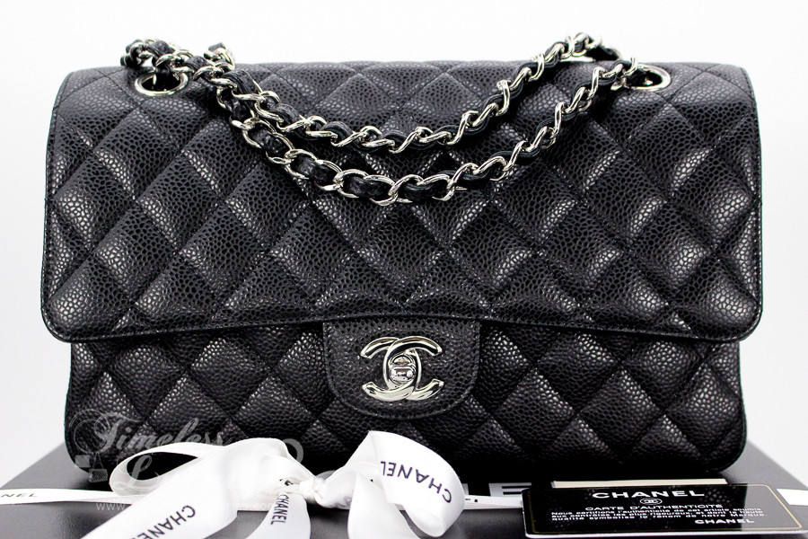 812e8fac1494 CHANEL Black Caviar Classic Double Flap Bag Silver Hw #13495266 - Timeless  Luxuries