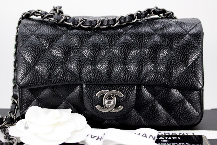 550a42c165ae CHANEL Black Caviar Rectangle Mini Ruthenium Hw #21216533 *New - Timeless  Luxuries