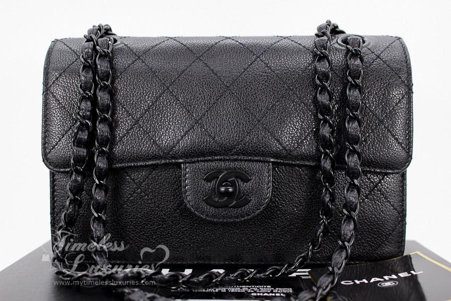322e2ce11c5c CHANEL Black Caviar  So Black  Vintage Classic Single Flap Bag  5431514 -  Timeless Luxuries