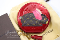 LOUIS VUITTON Animania Lapin Bunny Zippy Coin Purse/ Card Holder #TH4049