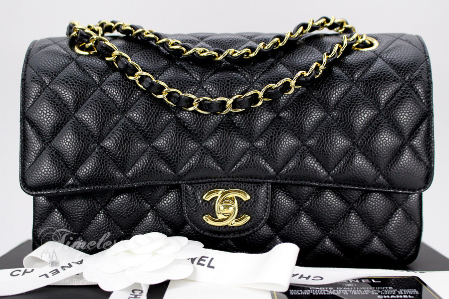 dc7ab76a61b5c1 CHANEL Black Caviar Classic Double Flap Bag Gold Hw #20900014 *New -  Timeless Luxuries