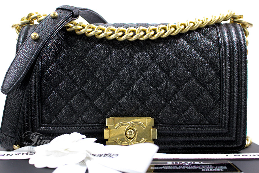 f716ab45ba9c CHANEL 17C Black Caviar Quilted Boy Flap Bag GHW  23464086  New - Timeless  Luxuries