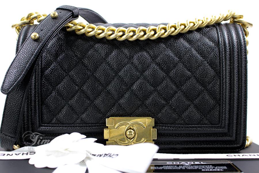 0b4de6f3 CHANEL 17C Black Caviar Quilted Boy Flap Bag GHW #23464086 ...