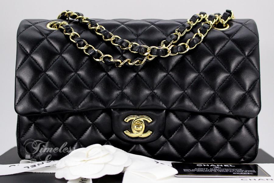 229c92e6ead3 CHANEL Black Lambskin Classic Double Flap Bag Gold Hw #19078630 - Timeless  Luxuries