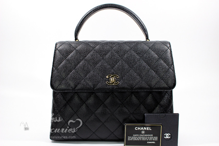c236c013d959 CHANEL Black Caviar Quilted Jumbo Kelly Flap Bag Gold Hw #6875084 -  Timeless Luxuries