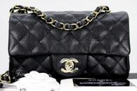 ba36af65a740 CHANEL 18S Black Caviar Rectangle Mini Lt Gold Hw  25xxxxxx  New