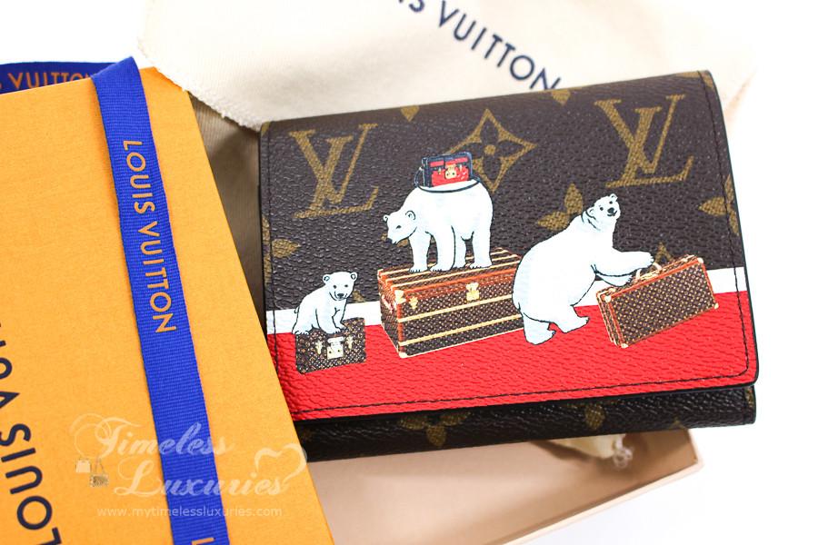 89e4f2bb458a LOUIS VUITTON Monogram Polar Bear Victorine Wallet  NZ3157  New - Timeless  Luxuries