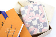 LOUIS VUITTON Damier Azur Tahitienne Zippy Coin Purse #SN1187 *New