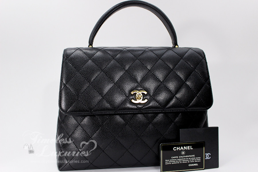 1f2ba7a707ae CHANEL Black Caviar Quilted Jumbo Kelly Flap Bag Gold Hw  6375584 -  Timeless Luxuries