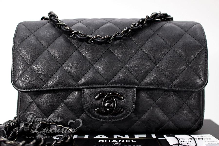 5f2fce72326f CHANEL 17S 'So Black' Rectangle Mini Classic Flap Bag Black Hw #23675618 -  Timeless Luxuries