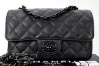 68689bf332d3 CHANEL 17S 'So Black' Rectangle Mini Classic Flap Bag Black Hw #23675618