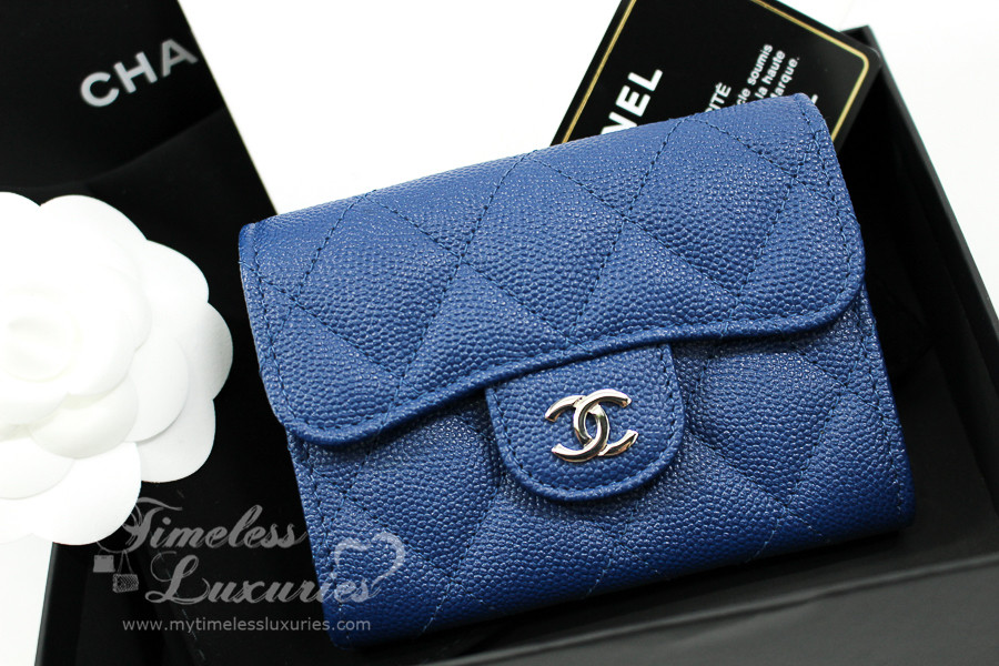 fea90141bd03 CHANEL 18C Blue Caviar XL Card Holder w Back Pocket #25220189 *New -  Timeless Luxuries